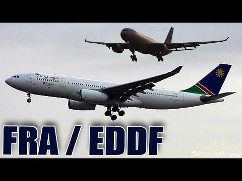 LONG FLOAT! Air Namibia A330 Morning Condensation Arrival | Frankfurt am Main (EDDF/FRA)