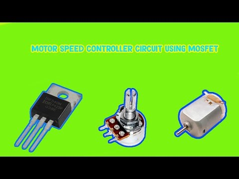DC MOTOR SPEED CONTROLLER | USING MOSFET 1R540 | ELECTRONIC MINI PROJECT | CREATIVE BEINGS