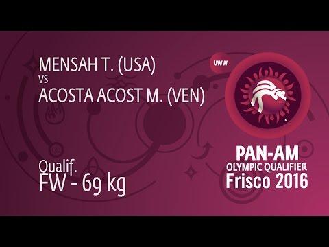 Qual. FW - 69 kg: T. MENSAH (USA) df. M. ACOSTA ACOST (VEN), 5-0