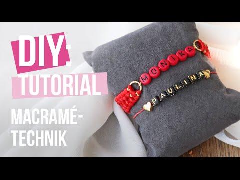Schmuck machen: Crossed sennit Macramé Schmuck ♡ DIY