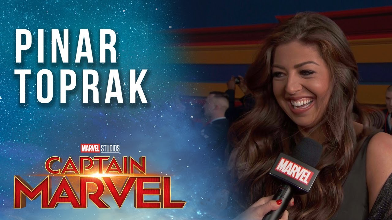 Composer Pinar Toprak on scoring Captain Marvel's story LIVE from the Red Carpet