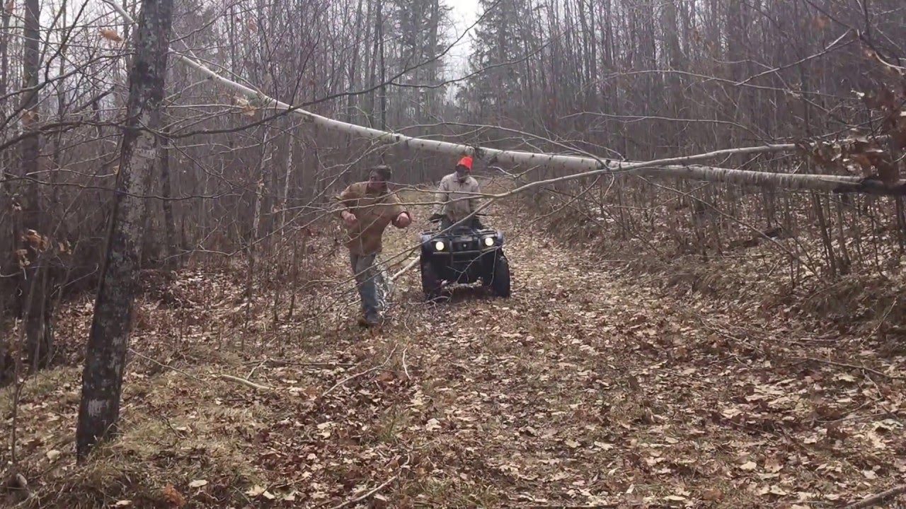small resolution of 2 500 pound warn winch at work
