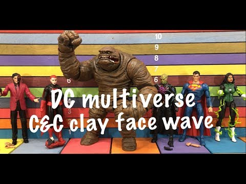 DC Multiverse Collect & Connect CLAY FACE wave action figures toy review