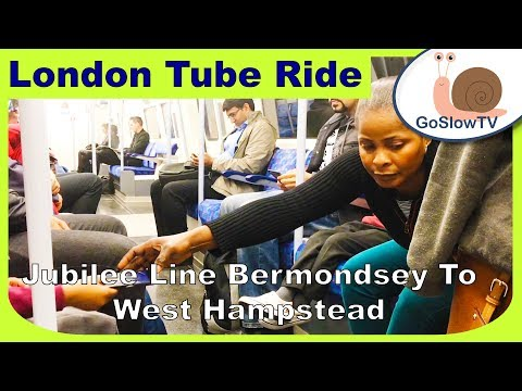 London Underground Tube Ride | Bermondsey to West Hampstead | Jubilee Line | Slow TV | Episode 32