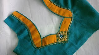 easy patch work blouse designe cutting and stitching