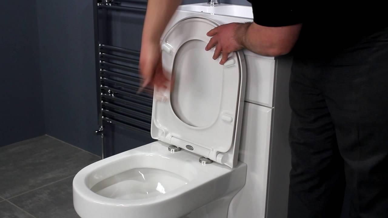 Top Fixing Soft Close Toilet Seat  D Shape