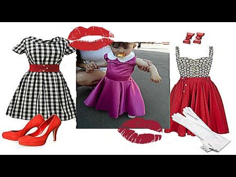 Пошив детского платья в стиле 80-х. Выкройка. смотреть в хорошем качестве