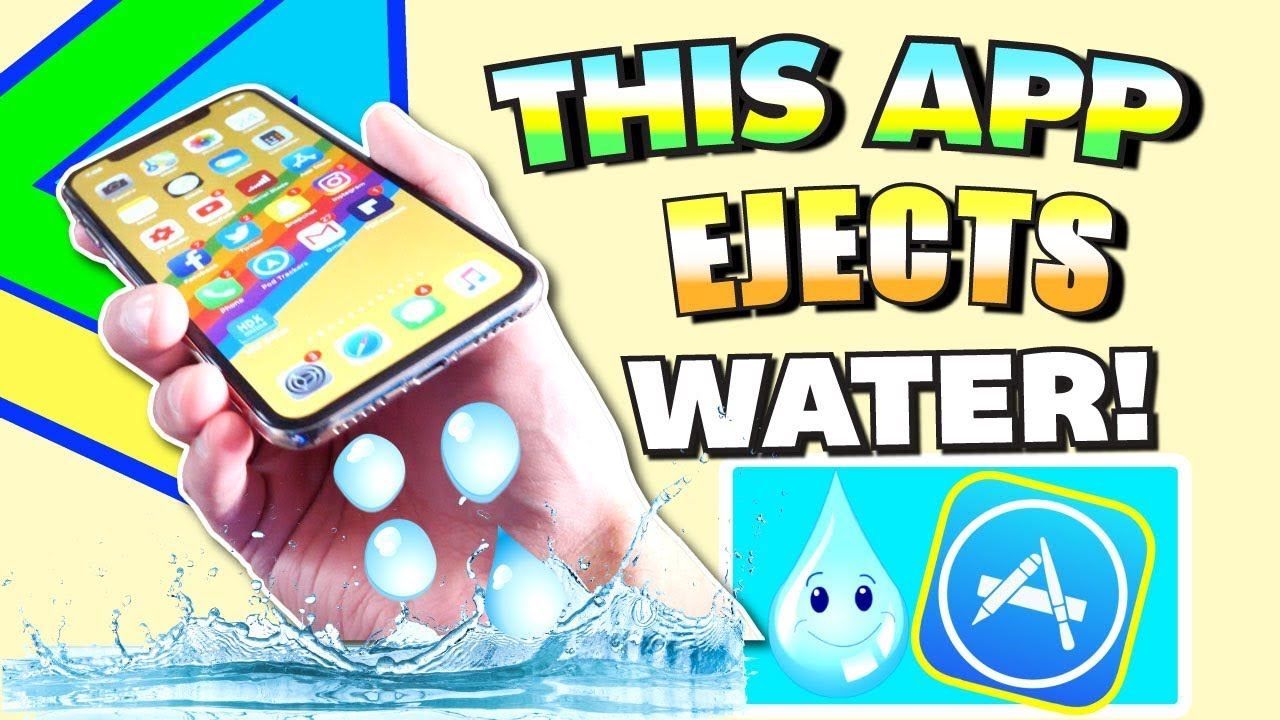THIS App Ejects Water From iPhone - (FIX Muffled Speaker and Remove Water  EASY) Eject Water Sound
