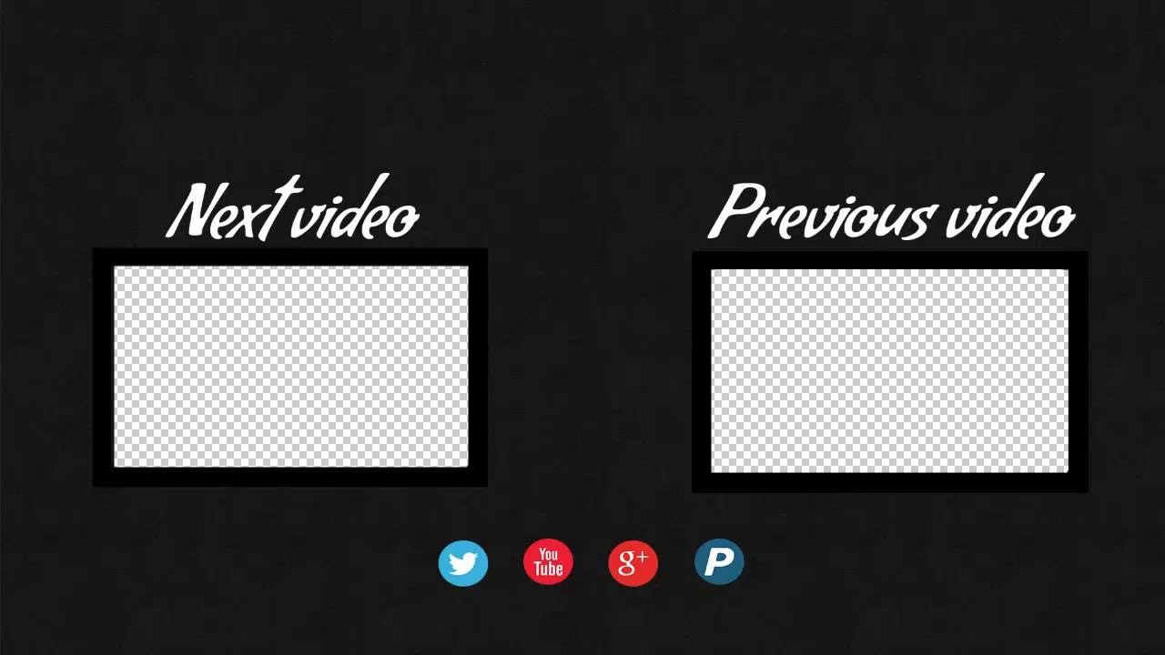 How to create End Screen Template for YouTube Videos - YouTube