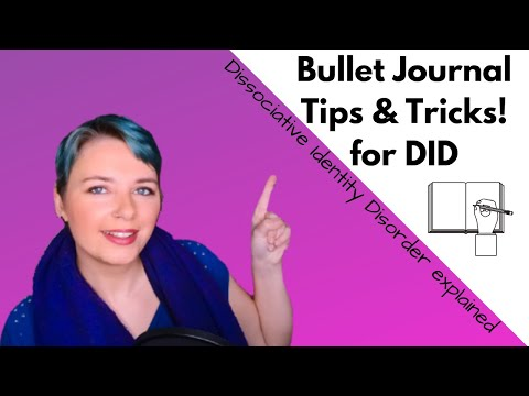 Dissociative identity disorder bullet journal tips & tricks - improved communication in did systems