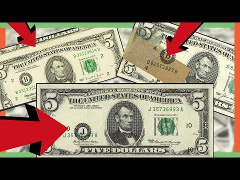 RARE FIVE DOLLAR BILLS WORTH MONEY - MISPRINTED MONEY IN