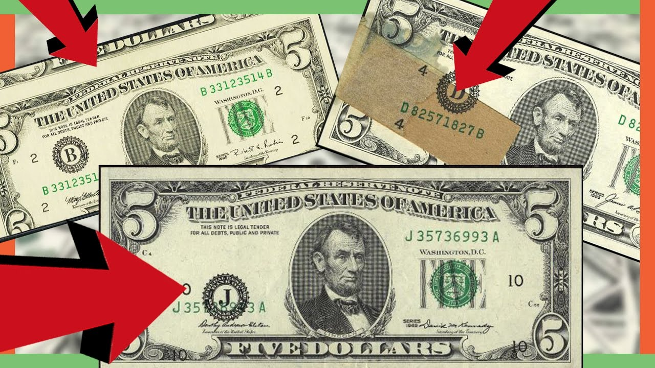 Rare Five Dollar Bills Worth Money Misprinted Money In