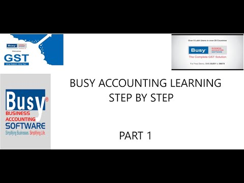 BUSY ACCOUNTING SOFTWARE FULL COURSE TUTORIAL IN HINDI STEP BY STEP IN AN EASY WAY  PART 1 thumbnail