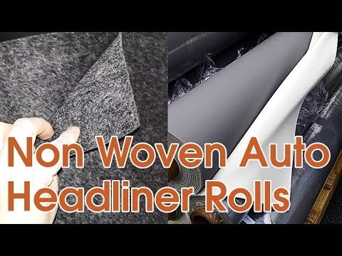 Auto Headliner Upholstery Fabric With Foam Backing and Roofing Rolls Stock Lot