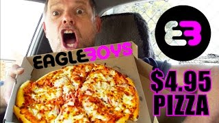EAGLE BOYS $4.95 PIZZA FOOD REVIEW - Fast Food Friday - Greg's Kitchen