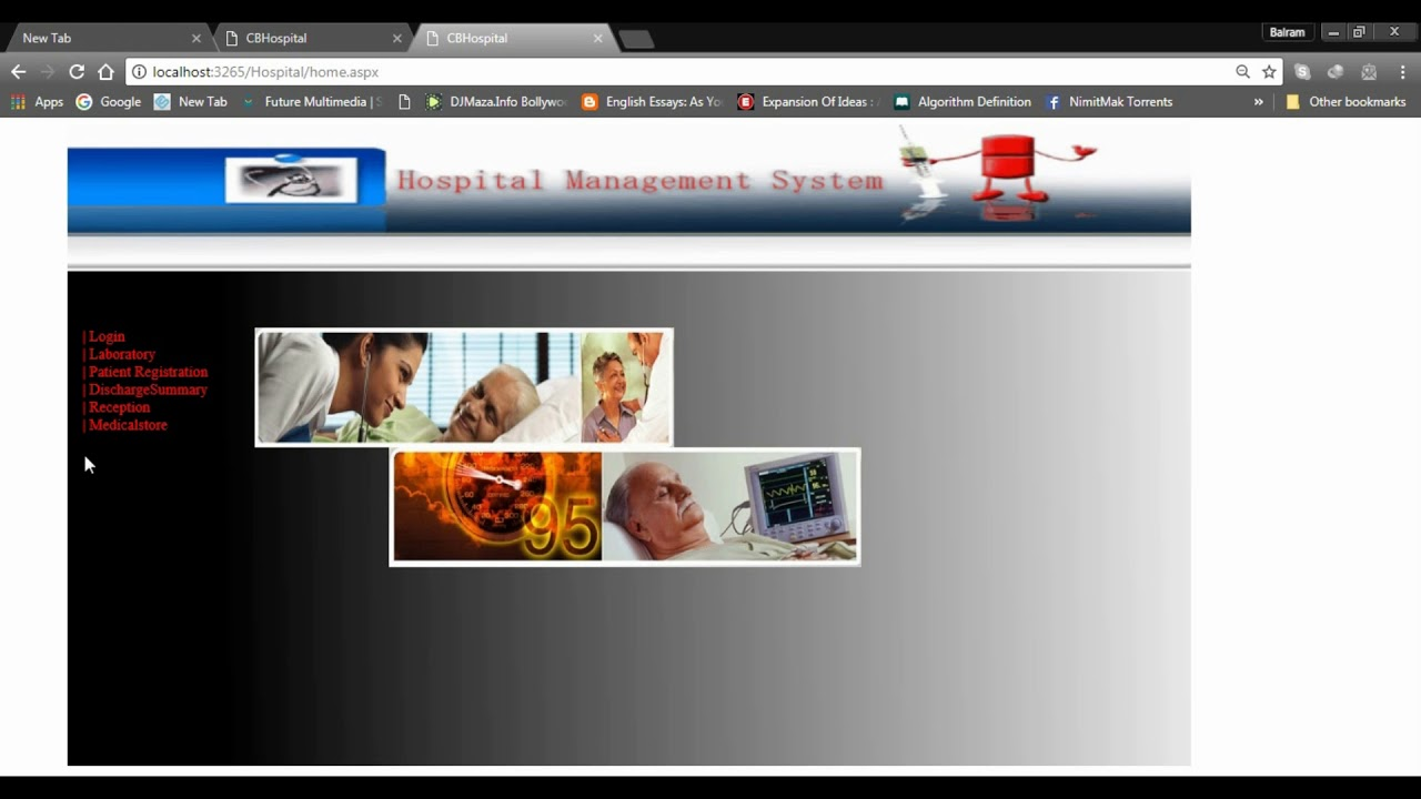 Hospital Management System Web project in ASP NET with Database &  Documentation Part-3