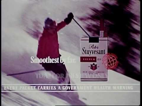 Peter Stuyvesant Cigarettes Skiing 1970s Cinemas Adverts Commercial TDA Archive www.findaclip.co.uk