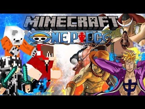 TaiGn Minecraft วันพีช Lucky Block #9 Colosseum Mobs Fight กลุ่มโจรสลัดหนวดขาว