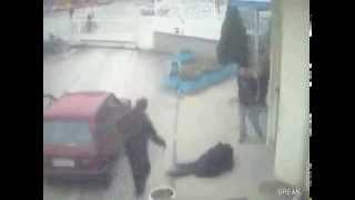 People falling over an invisible curb!
