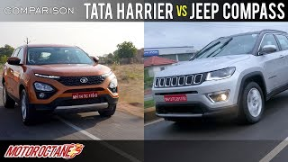 Tata Harrier vs Jeep Compass Comparison | Hindi | MotorOctane