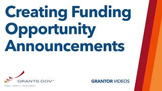 Grantors: How to Create or Copy a Funding Opportunity Announcement