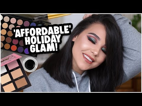 AFFORDABLE AF HOLIDAY MAKEUP TUTORIAL: MORPHE 35V + MATTE LIPS! | MakeupByAmarie thumbnail