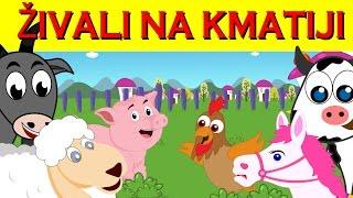 Živali na kmetiji | Piščanec, prašiček, krava, ovca, konj |  Mix otroških pesmic 27 minut