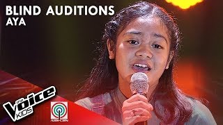 Aya Barcenilla - Ili-Ili Tulog Anay | Blind Auditions | The Voice Kids Philippines Season 4