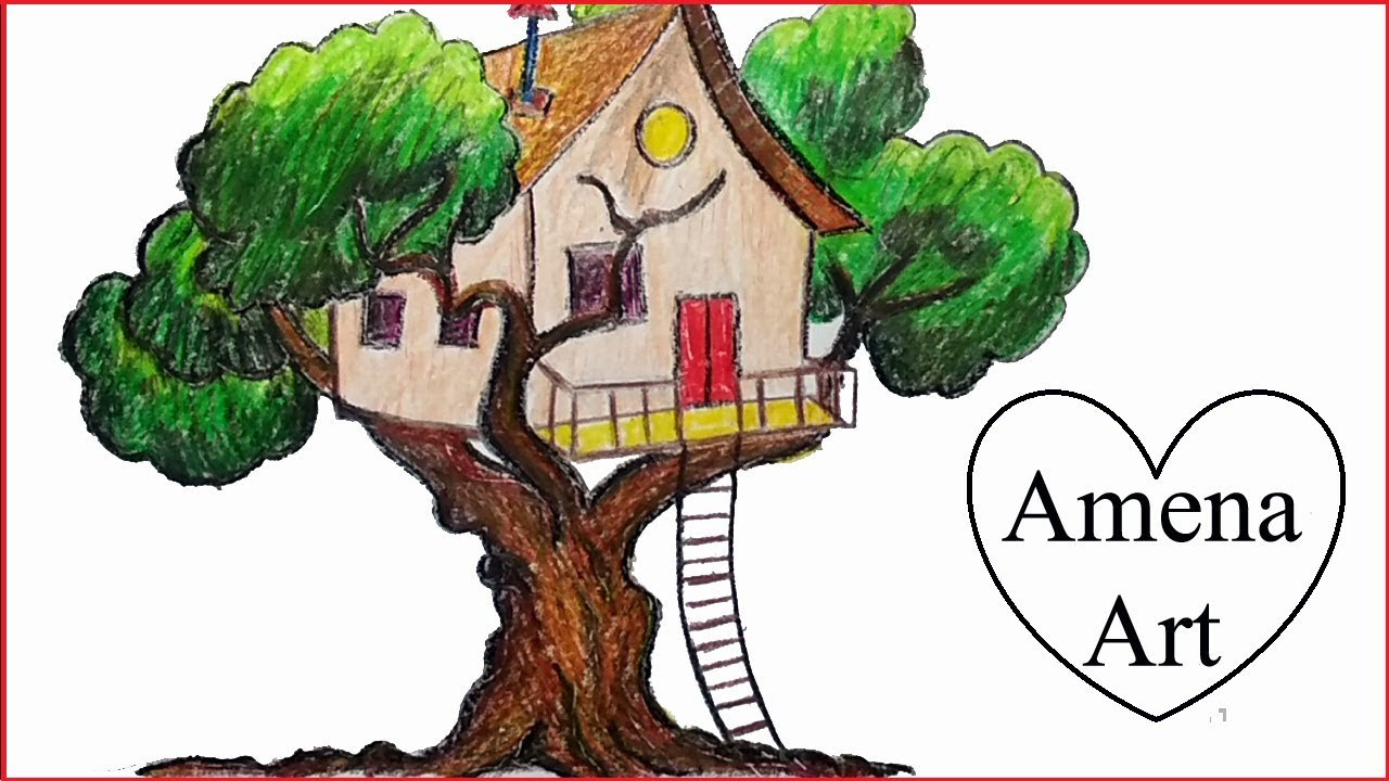 How To Draw A Beautiful Tree House Step By Step With Pencil Youtube Choose from 1700+ cartoon tree graphic resources and download in the form of png, eps, ai or psd. how to draw a beautiful tree house step by step with pencil