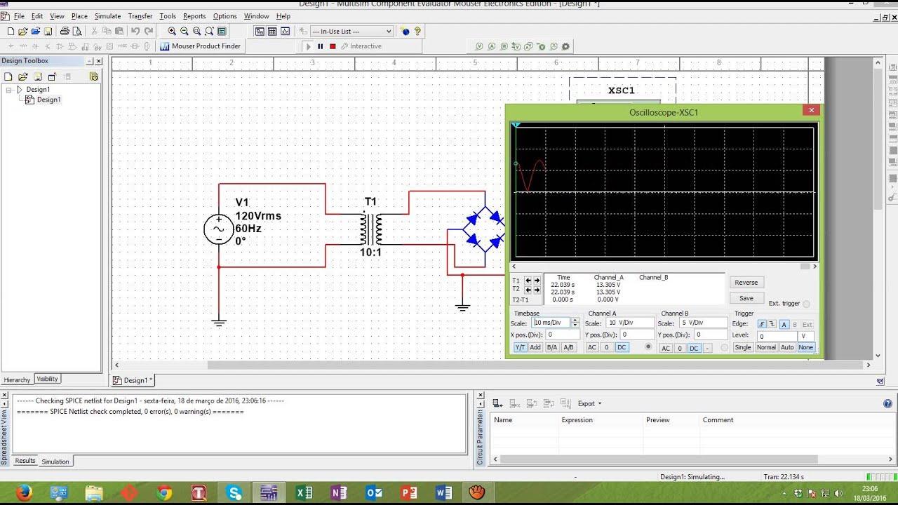 Circuito Retificador : Bônus multisim circuito retificador youtube