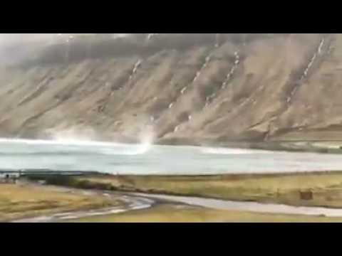 Great video of the windstorm on Faroe Islands around Christmas day. Impressive