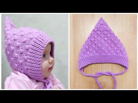 Узоры для вязания детской шапочки спицами