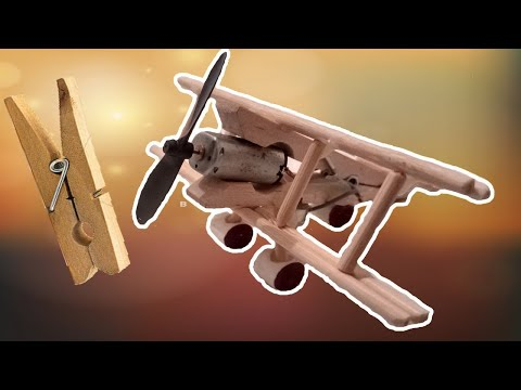 How to Make A Plane With DC Motor - Toy Wooden Plane DIY 2019