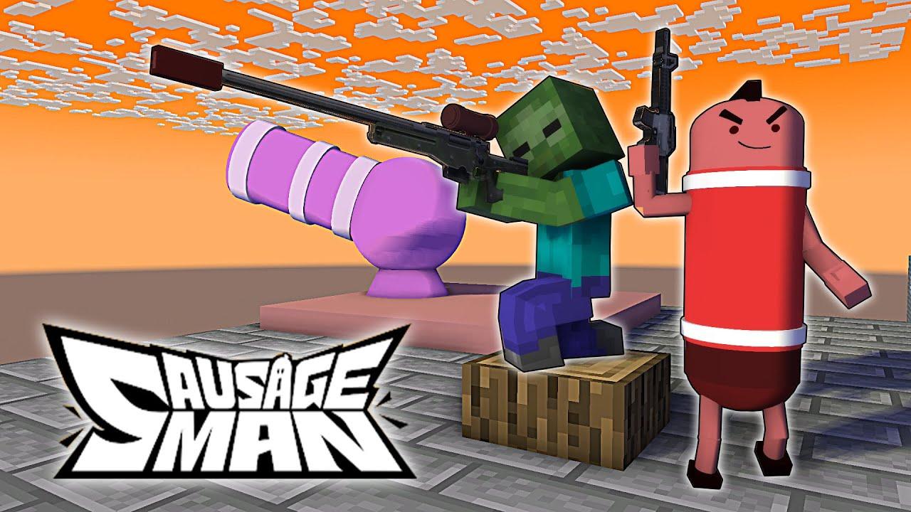 Monster School : SAUSAGE MAN CHALLENGE - Minecraft Animation