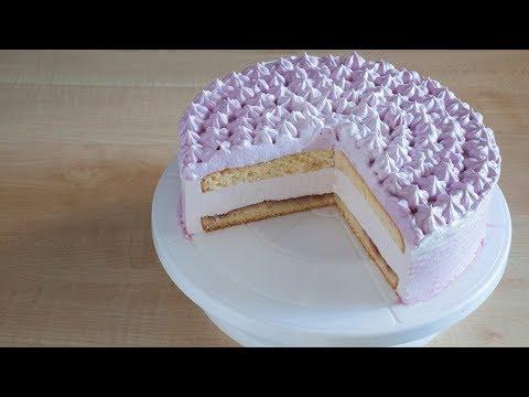 Торт с йогуртовым суфле - очень вкусный и нежный