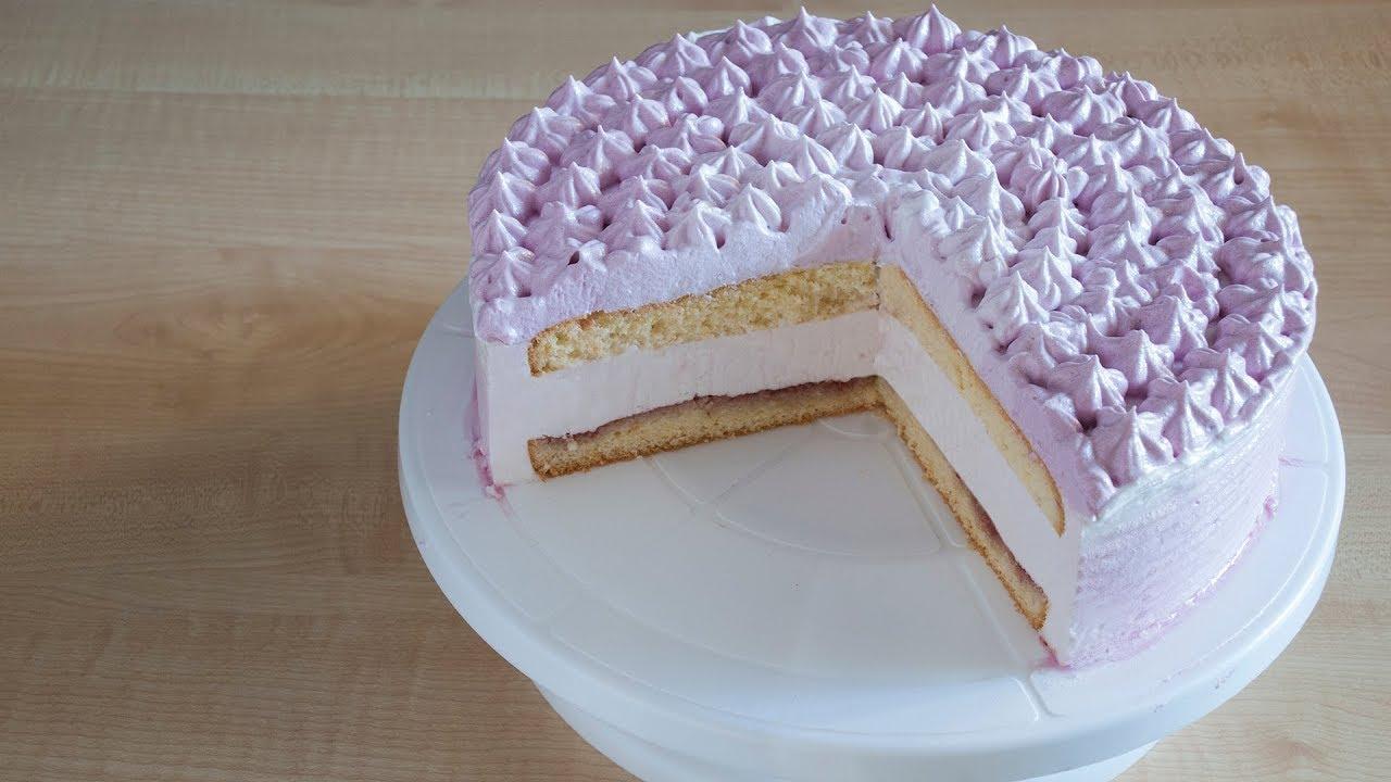 как приготовить торт с йогуртовым кремом-суфле
