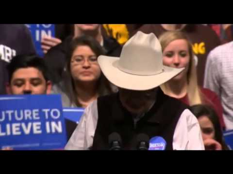 Jim Hightower's Introduction at Bernie Sanders Wyoming Rally