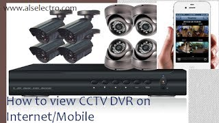 How to view CCTV DVR over Internet/Mobile(This video describes how to Port Forward your Router for Remote viewing of DVR over Internet or Mobile phone. An 8 channel BUSH PLUS DVR & a Linksys ..., 2013-11-30T03:17:41.000Z)