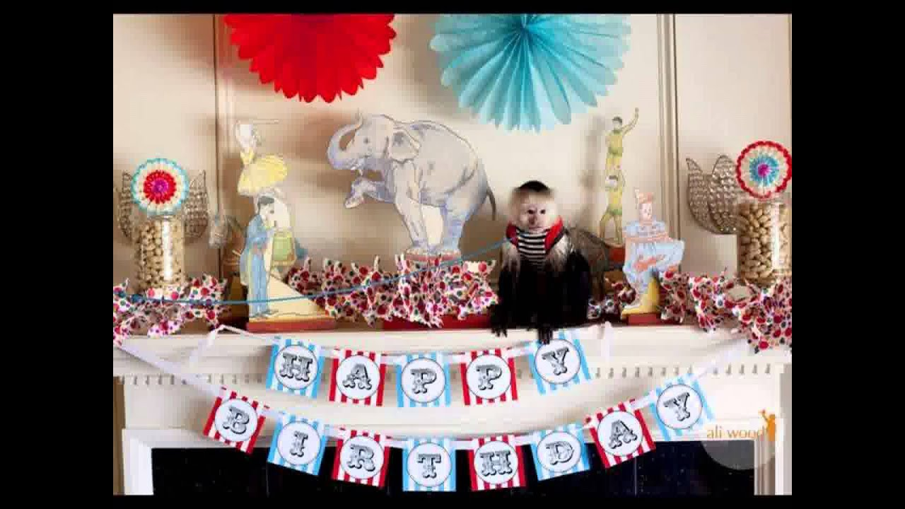 Fête D Anniversaire De La Décoration De Cirque Youtube