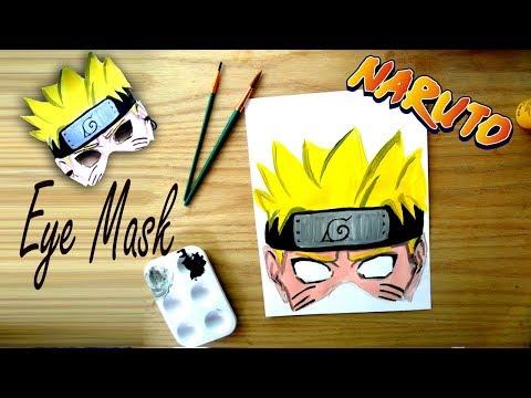 DIY NARUTO EYE MASK Coloring For Kids