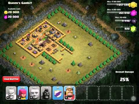 Clash Of Clans How To Beat Queen's Gambit