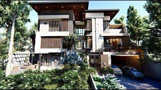 Desain Rumah Mewah Ibu Malik Dari 2 Menjadi 3 Lantai di Maros Sulawesi Selatan