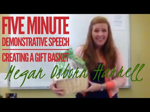 Five Minute Demonstrative Speech - Youtube