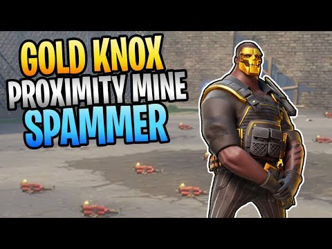 FORTNITE - New GOLD KNOX Proximity Mine Constructor Save The World Gameplay
