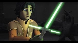HD Twilight of the Apprentice Footage - Crossguard Lightsaber clip! Star Wars Rebels Season 2 Finale
