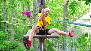 LAST TO FALL Off Worlds TALLEST Obstacle Course Challenge WINS!!