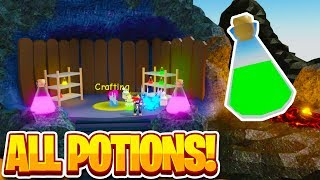 CRAFTING UPDATE ALL RECIPES! (Crazy Potions) | Unboxing Simulator