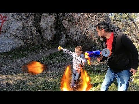 Easter Egg Hunt with a Laser Nerf Battle