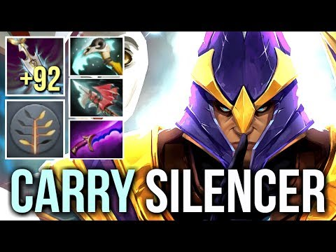 +92 Int Machine Gun Silencer Carry by Babyknight No Brain for You Epic Gameplay Dota 2