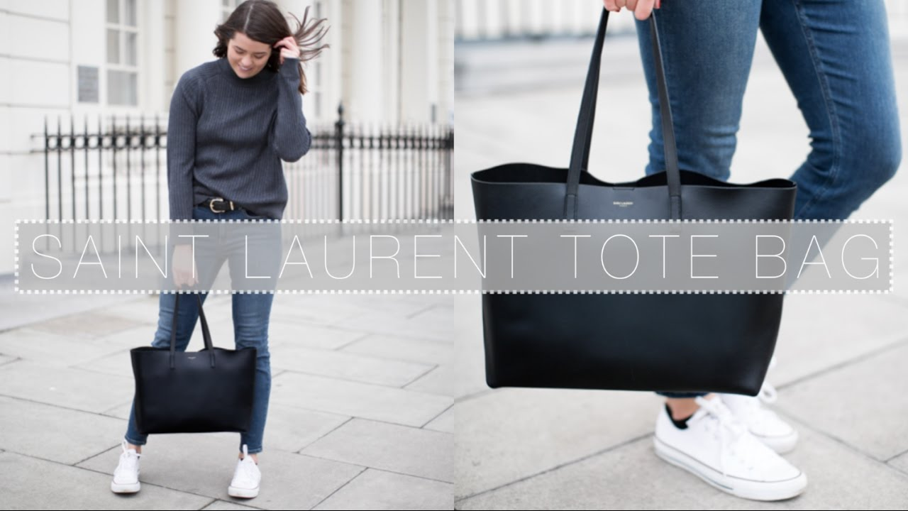 08eed05863 Saint Laurent Large Shopping Tote Review